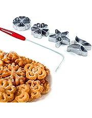 Traditionele deegvorm - Hworost, wafelijzer, wafelbakkerij Spreewalslijpen set 4 stuks