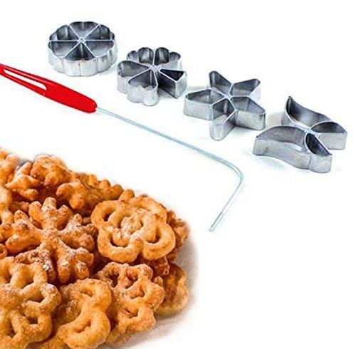 Warenwelt - Set da 4 stampini tradizionali per impasto–per hworost e waffle