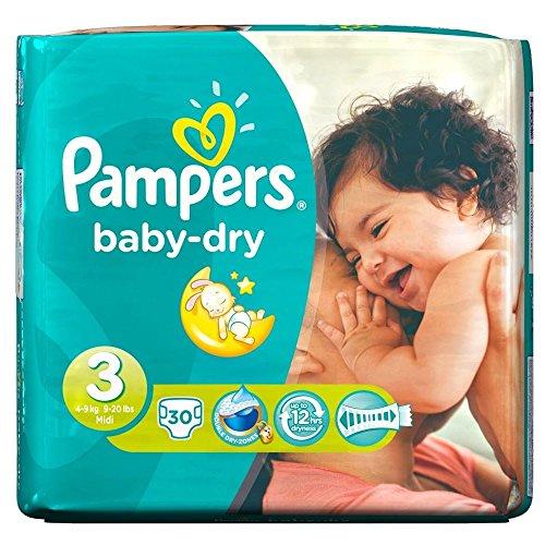 Pampers Baby Dry Misura 3 Midi 4-9Kg (30) (Confezione da 2)