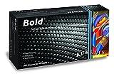Supermax 73999Aurelia Bold. Guantes de nitrilo, sin polvo, talla XL, color negro (Pack de 100)