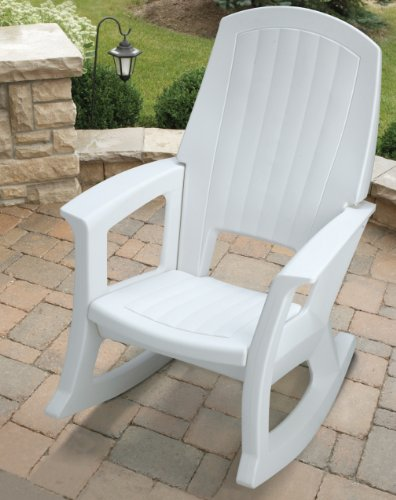 SEMCO Plastic Company White Outdoor Rocking Chair