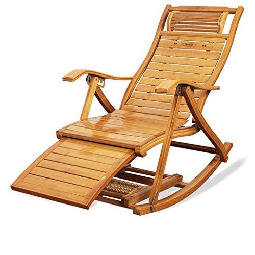 Chaise à Bascule Chaise en rotin à Bascule, Chaise Longue de Sun Fauteuil for terrasse de Jardin, terrasse, Fauteuil de détente inclinable, Chaise Longue avec Repose-Pieds, lit de Soleil inclinable