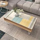 WarmHome Europeo Impresión Mantel,Impermeable A Prueba De Aceite Anti-Caliente Table Cloth Suave Plastico Vaso Limpiable Tablecloth (Rectangular 35 × 63 Pulgadas)-D 60×60cm