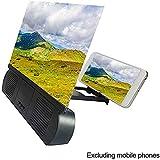 WXX 10 '' Handy-Bildschirmverstärker Mit Ladefunktion, Bluetooth-Audioverstärker Mit Praktischem Filmverstärker Für Alle Smartphones,Schwarz