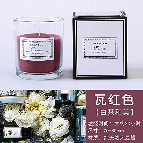 TAYIBO entspannung Kerze,Aromatherapiekerzen, beruhigender Schlaf, Schlafzimmer im Wohnbereich, langlebige Fliesen rot