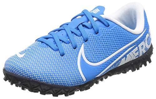 Nike Jr. Mercurial Vapor 13 Academy Tf, Scarpe da Calcio Unisex-Bambini, Multicolore (Blue Hero/White/Obsidian 414), 29.5 EU