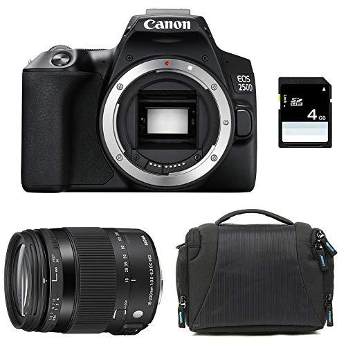 CANON EOS 250D + SIGMA 18-200 Macro OS HSM Contemporary + Sac + SD 4Go
