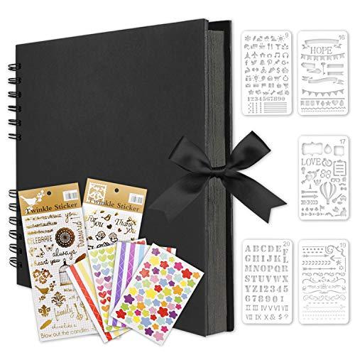Qisiewell Fotoalbum, Fotoalbum zum Selbstgestalten, DIY Fotobuch 80 Seiten, Kann als Abschluss Geschenk, Geburtstagsgeschenk, Hochzeitstagsgeschenk, Valentinstagsgeschenk und mehr verwendet Werden