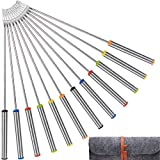 Stainless Steel Fondue Forks with Heat Resistant Handle for Cheese Chocolate Fondue Roast Marshmallows Meat, 9.5 Inch (12 Pack)