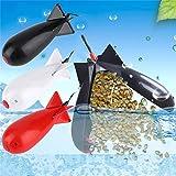 BASOYO Attrezzatura da Esterno, Esca per Carpe Razzo Grande, Pesca Razzi Grandi Spod Bomb Attrezzatura da Pesca Alimentatori Porta Esche Galleggiante Alimentatore per Razzi Accessori per Attrezzi