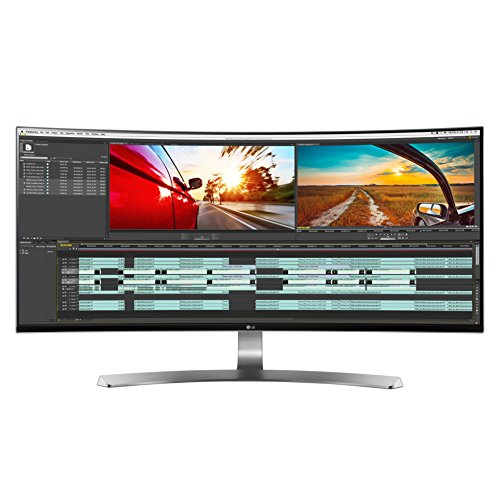 LG 34UC98-W 34-Inch 21:9 Curved UltraWide QHD IPS Monitor with...