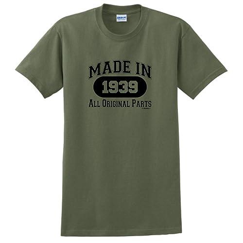 80th Birthday Gifts Made 1939 All Original Parts T Shirt