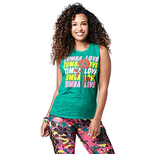 Zumba Burnout Dance Gimnasio Camisetas Tirantes Mujer Fitness Entrenamiento Deportivo Top, Forest, XS