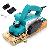 JHYM Cepilladora eléctrica 800W 11000Rpm, Herramienta de carpintería de Mano Profesional, Profundidad de 1 mm Ajustable, diámetro de cepillador de 3-1/4 Pulgadas - para Muebles domésticos