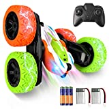 REAPP Remote Control Car for Kids, 2.4 GHz 4WD RC Stunt Car with Headlights, Double Sided 360 Degree Flips RC Cars Toy for Boys Girls, Great Gift for Kids Over 4 Years Old( All Batteries Included)