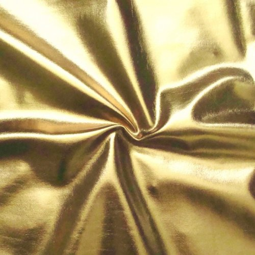 STOFFKONTOR Stretch Folienjersey Jersey Stoff Meterware, Gold
