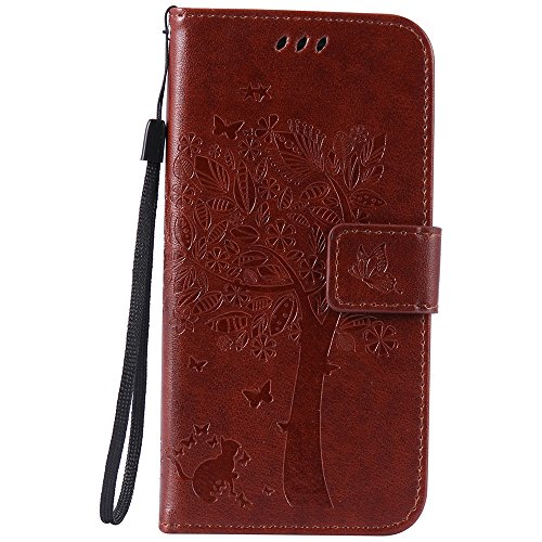 C-Super Mall Samsung Galaxy S6 Edge Case, Embossed Tree Cat Butterfly...