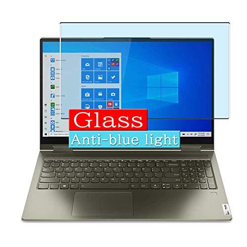 VacFun Filtro Luz Azul Vidrio Templado Protector de Pantalla, compatible con Lenovo Yoga 7i 14' Visible Area Cristal Screen Protector(cobertura no completa)