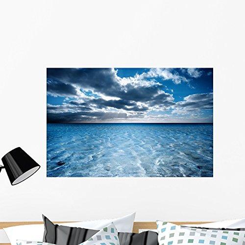 Wallmonkeys WM106355 Dreamy Beach Scene Peel and Stick Wall Decals (36 in W x 24 in H), Large