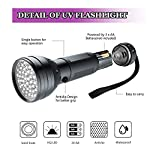 AOLOX Flashlight Black Light 51 LED Torch Light Ultraviolet Detector for Dog Urine Pet Stains and Bed Bug Housebreaking Use with pet odor eliminator 12