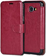 Samsung Galaxy A3 Case,Mulbess [Layered Dandy][Wine Red] - [Card Slot][Flip][Slim Fit] - PU Leather Wallet Case For Samsung Galaxy A3 (2016)