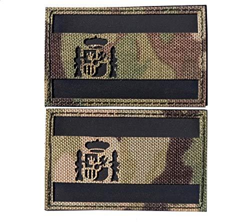 Envio 24h 2 Parches Velcro x España Bandera Táctico Bandera con Velcro...