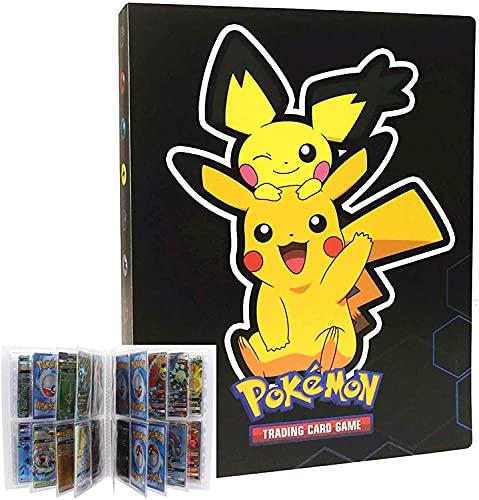 EMZOH Porta Carte Pokemon, Raccoglitore porta carte Pokemon, Album di carte da collezione, Album Pokemon Cards GX EX Trainer, 30 Pagine - può Contenere 240 Carte (Dark Pikachu)