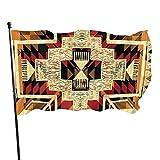 'N/A' Bandera de jardín con diseño azteca retro nativo americano de Flecha con ojales de latón, para interior y exterior, para el hogar, barco, yate, decoración de coche