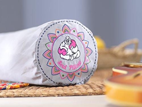 Soul Pillow Rolle 130x22cm | Seitenschläferkissen | Meditationskissen | Relax-Kissen | inkl. Bezug: grau