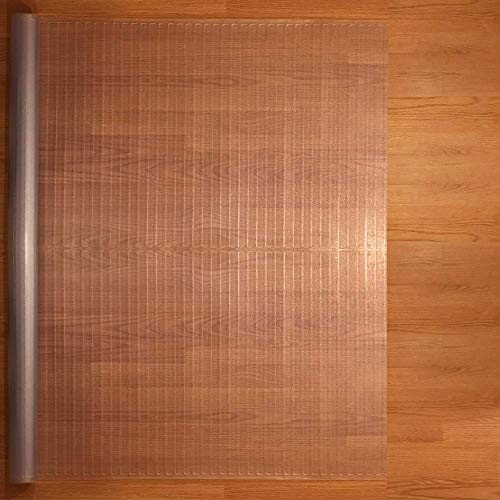Resilia - Clear Vinyl, Plastic Floor Runner/Protector for Hardfloors - Decorative, Dual Pad Pattern,...