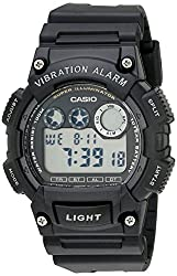 in budget affordable Casio W735H-1AVCF Super Illuminator Men's Watch with Black Resin Strap