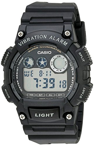 Casio Men's W735H-1AVCF Super Illuminator Watch With Black...