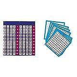 Learning Resources LER2208 Hundred Pocket Chart Panel de Cien Bolsillos + Tableros de cien números de escribir y borrar de (set de 10)