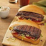 Kansas City Steaks 14 Top Sirloin Sandwich Steaks with Honey Teriyaki Marinade, 4 oz each