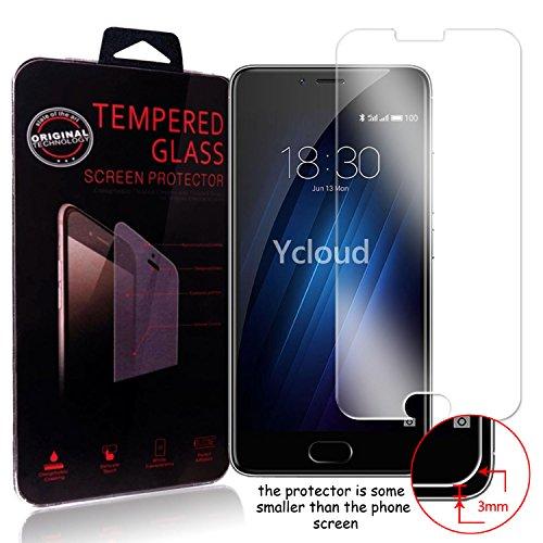 Ycloud Pellicola Protezione di schermo per Meizu M3S in vetro temperato Ultra Resistente Protezione Esterna Durezza 9H (0,26mm HD Transparent High)