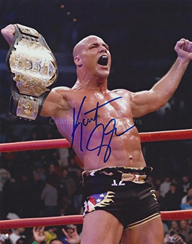KURT ANGLE  WWE   WWF Wrestling Legend GENUINE AUTOGRAPH