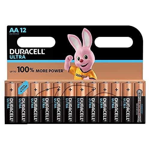 Duracell - Ultra AA Pilas paquete de 12