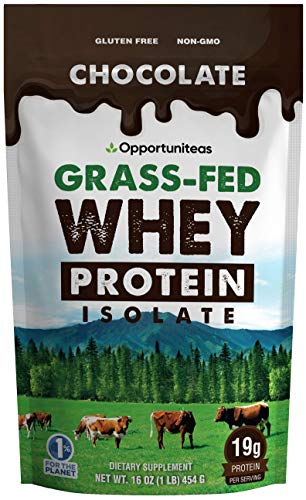 Chocolate Protein Powder  Premium Ingredients  No Artificial Chemicals or Flavorings  Grass Fed Whey Isolate  Rich Cacao  Organic Sugar  Light amp Delicious Taste  Gluten Free amp Non GMO  1 lb