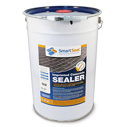 Smartseal Imprinted Concrete Sealer - Silk/Wet Look Finish - Durable Concrete Sealer for Patterned, Coloured & Stamped Concrete for Driveways and Patios; Seals & Protects 25 Litre