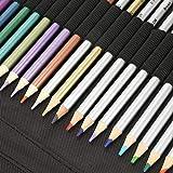 Juego de lápices de colores de primera calidad, suministros de arte seguros para lápices de colores solubles en agua, madera para dibujar para adultos