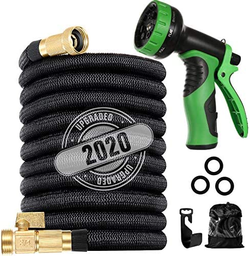 200 ft Flexible and Expandable Garden Hose Strongest Triple Latex Core with 3 4 Solid Brass product image