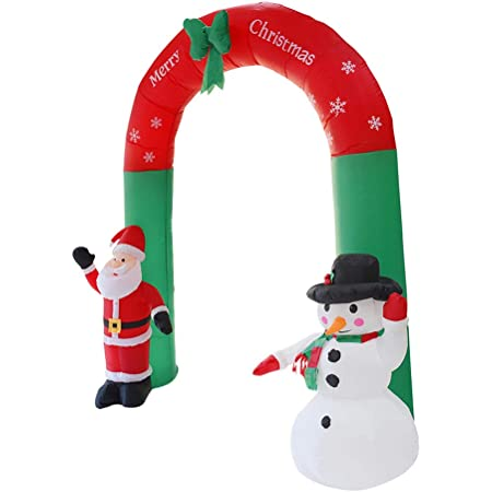 GOTOP Giant Inflatable Snowman Inflatable Christmas Snowman,Christmas Decoration Automatic inflation with LED Lights 1.5m Outdoor and Indoor Use