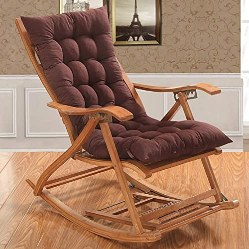 DIELUNY Cojines para silla mecedora, cojín acolchado de banco grueso para sofá interior y exterior, muebles de patio, sala de estar, ratán, cojines plegables para silla, color café, 48 x 120 cm