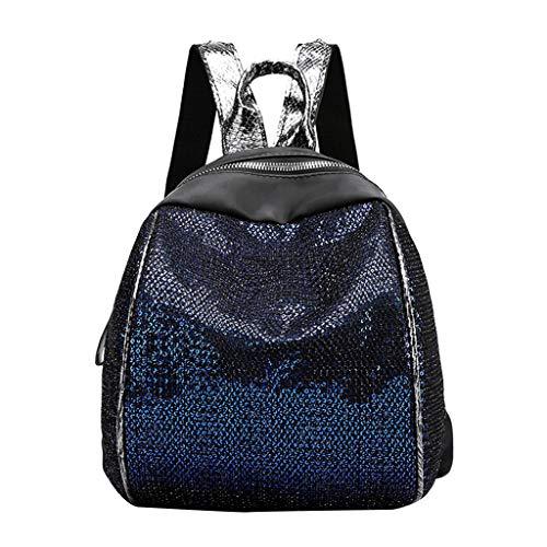Pwtchenty Schöne Rucksäcke Für Damen Handtaschenrucksack Damen Diebstahlsicher Backpack Daypacks Nylon Pailletten Rucksack Wilden Reise Multifunktionstasche