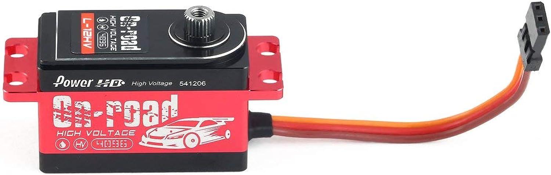 cómodamente 73JohnPol Power HD L12HV L12HV L12HV Alloy Gear Digital Coreless HV Servo de Alto Voltaje con 12kg de Alto par para el Control Remoto RC Drift Coche (Color  Negro y Rojo)  venta