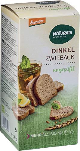 Naturata Bio Dinkel-Zwieback, ungesüßt (6 x 150 gr)