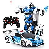 Ferngesteuerte Autos, Robotertransformatorauto, Robotertransformatorspielzeug, ferngesteuertes Roboter-Spielzeug mit Einer Taste, 360 ° drehbares Driften, Jungen und Mädchen