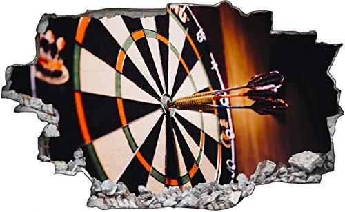 Dart Pfeile Scheibe Bulleye Sport Wandtattoo Wandsticker Wandaufkleber C1943 Größe 60 cm x 90 cm