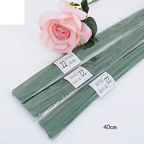 Rmeet Alambre de Tallo,Floral Wire 100 Pack Verde Floristas Alambres de Calibre...