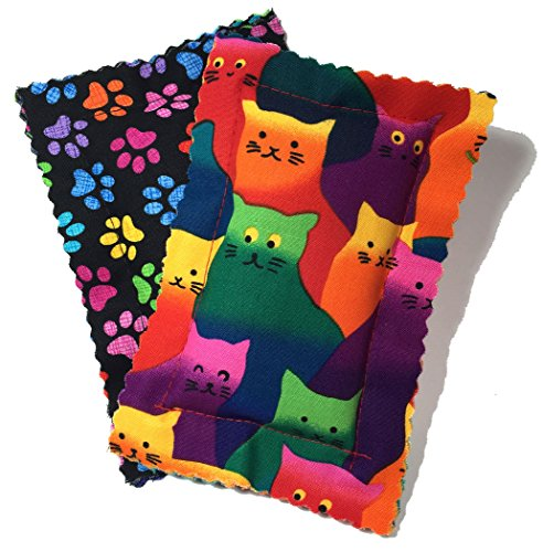 Johnson Pet Products Catnip Pillow Sacks Two Pack Crazy Cat - Handmade in The USA